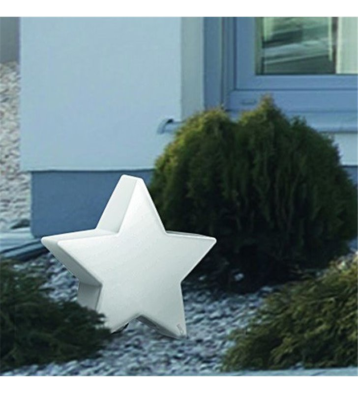 Zewnętrzna lampa stojąca w kształcie gwiazdki Star z kablem 3m IP44