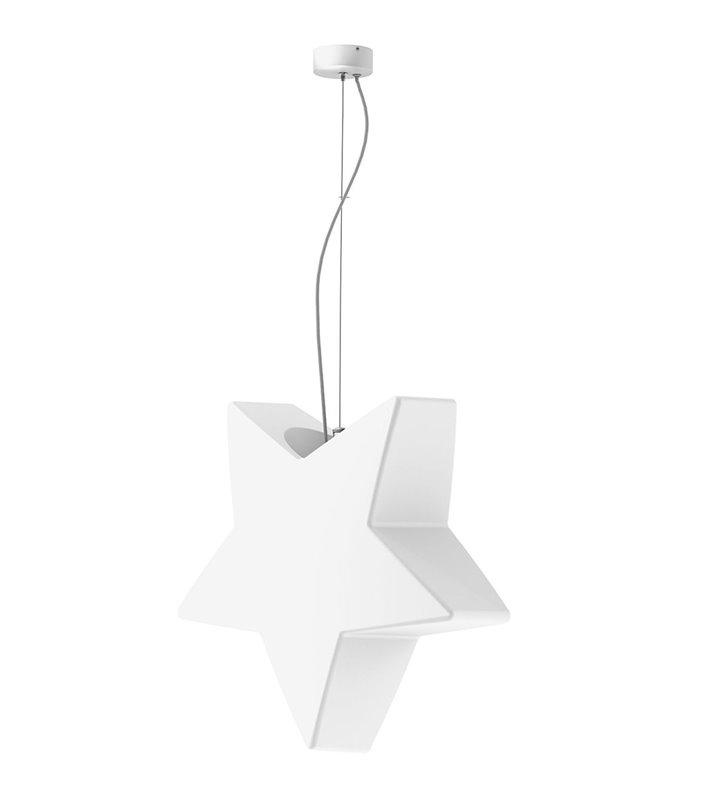 Oryginalna biała lampa wisząca do ogrodu w kształcie gwiazdki Star