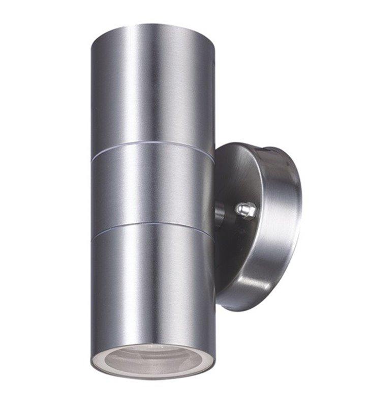 Stalowa zewnętrzna lampa ścienna Wella pionowy dwukierunkowy strumień światła IP44