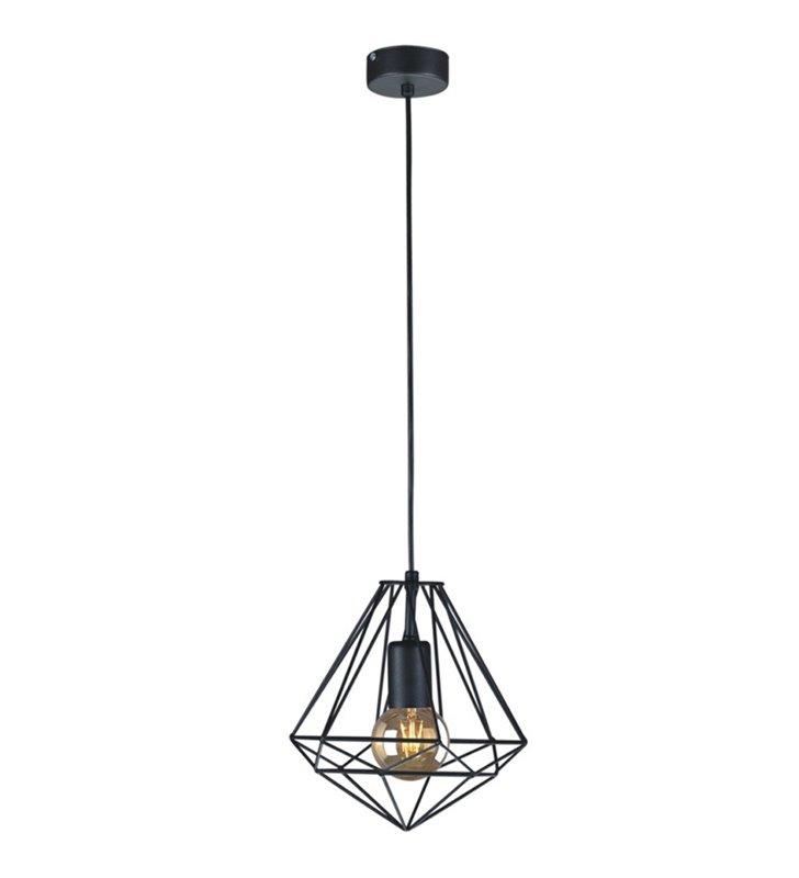 Nowoczesna czarna druciana lampa wisząca Marko w kolorze czarnym styl nowoczesny loftowy