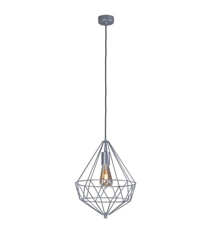 Lampa wisząca Spark szara wykonana z drutu widoczna żarówka do salonu sypialni jadalni kuchni