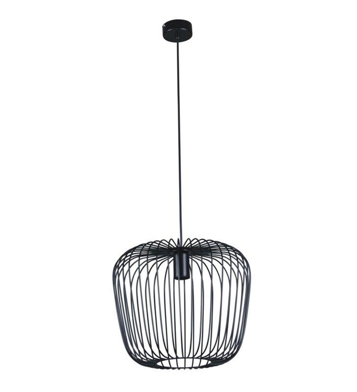 Lampa wisząca Fineus czarna druciana nowoczesna odsłonięta żarówka