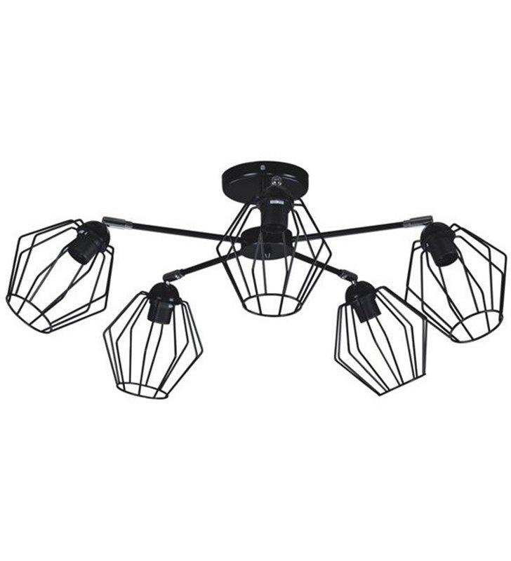 Benet lampa sufitowa żyrandol kolor czarny matowy styl loftowy do przedpokoju salonu pokoju nastolatka sypialni