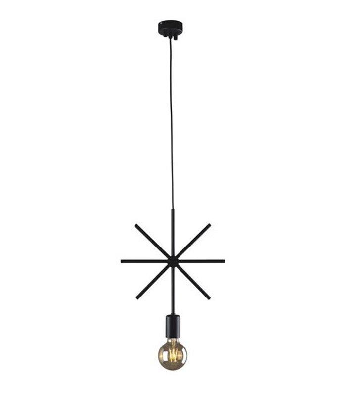 Minimalistyczna lampa wisząca Tobik czarna metalowa