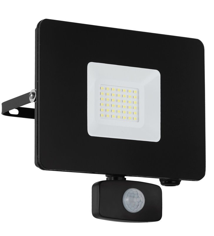 Naświetlacz ogrodowy Faedo3 LED kolor czarny czujnik ruchu 30W 5000K 2750lm IP44 - DOSTĘPNY OD RĘKI