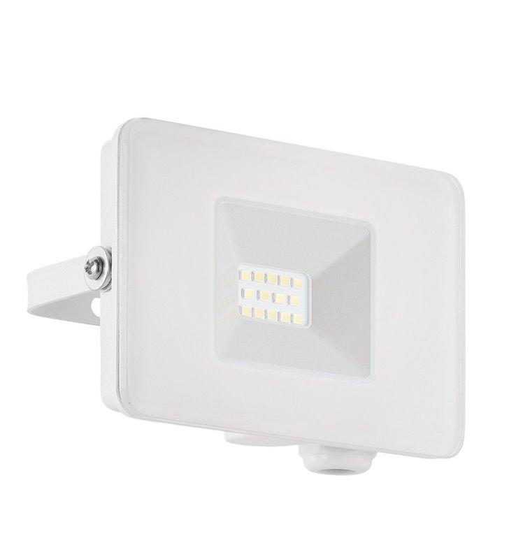 Biała ogrodowa lampa ścienna naświetlacz Faedo3 mała 10W 5000K