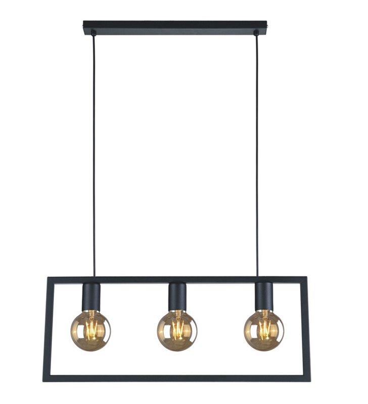 3 punktowa nowoczesna lampa wisząca Lavaya czarna do jadalni kuchni salonu sypialni w stylu loftowym industrialnym
