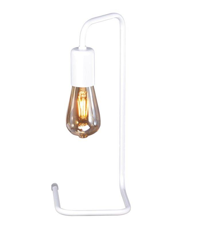 Minimalistyczna loftowa biała matowa lampa stołowa Peka