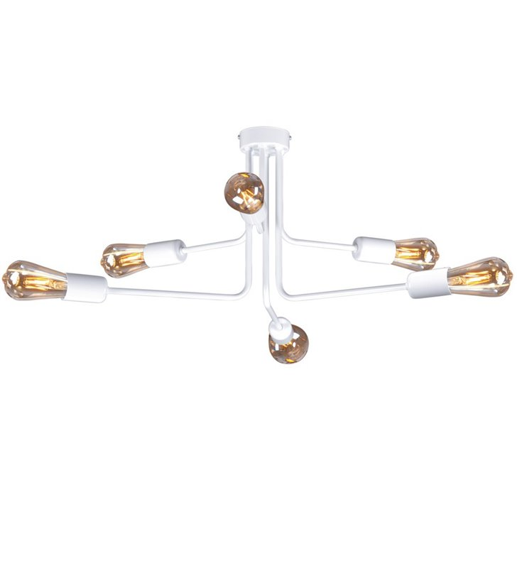 Lampa sufitowa żyrandol Peka kolor biały mat styl loftowo industrialny np. do pokoju nastolatka