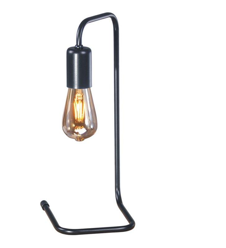 Lampa stołowa Skadi czarna matowa bez klosza minimalistyczna