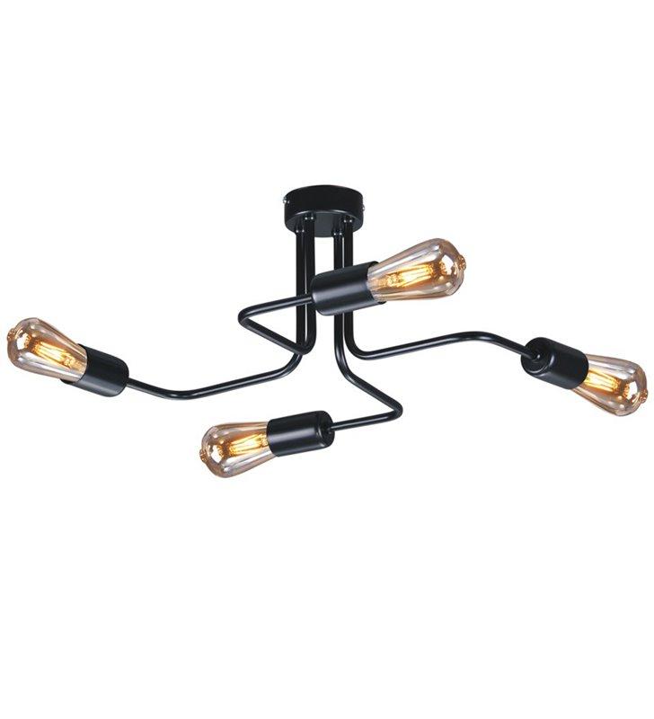 Lampa sufitowa żyrandol Skadi czarny mat poczwórna nowoczesna na przedpokój do salonu pokoju dziennego