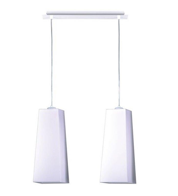 2 punktowa abażurowa lampa wisząca Vito White biała nowoczesna wysokie abażury