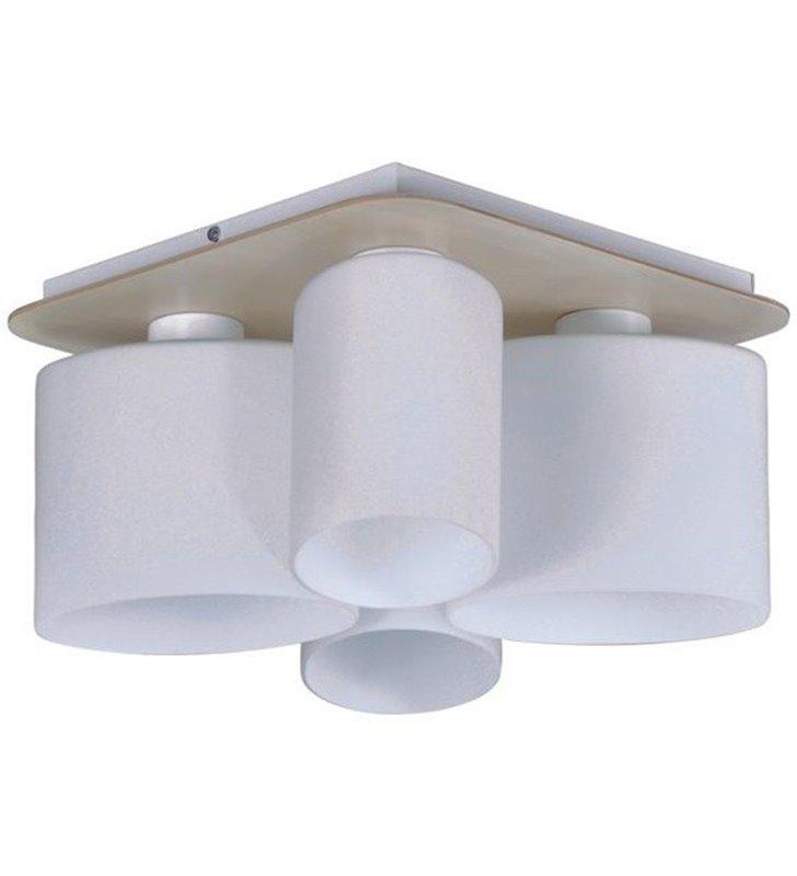 Lampa sufitowa Carson 4 punktowa podsufitka ze sklejki klosze w kształcie elipsy