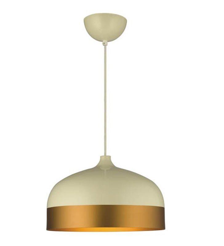 Kremowo złota wisząca lampa Milton