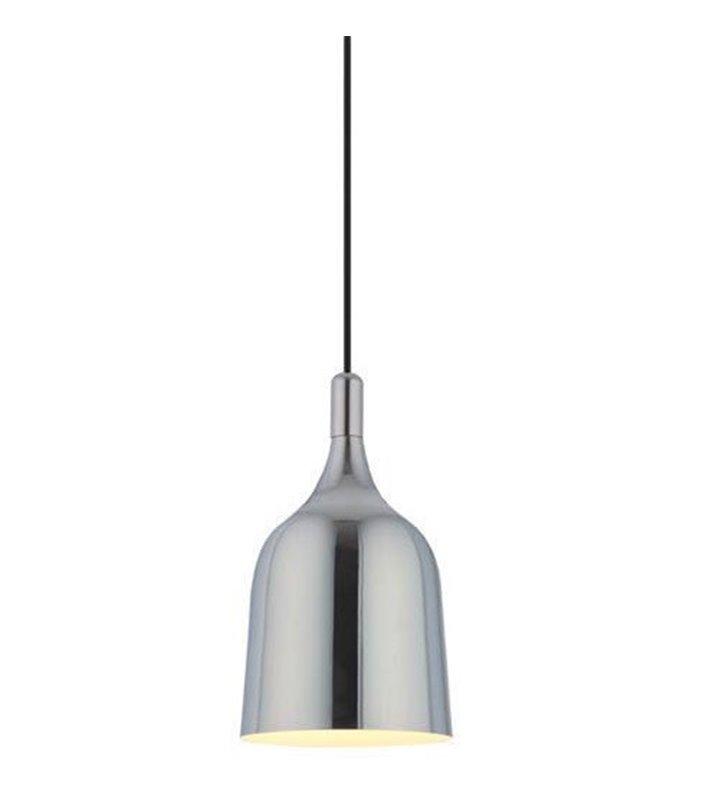 Lampa wisząca Chuck chrom mała metalowa 15cm w nowoczesnym stylu