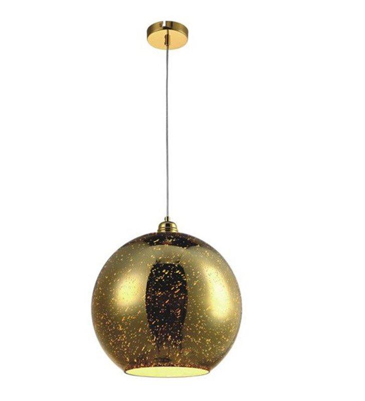 Lampa wisząca Galaxy II złota szklana kula 30cm do salonu jadalni kuchni sypialni