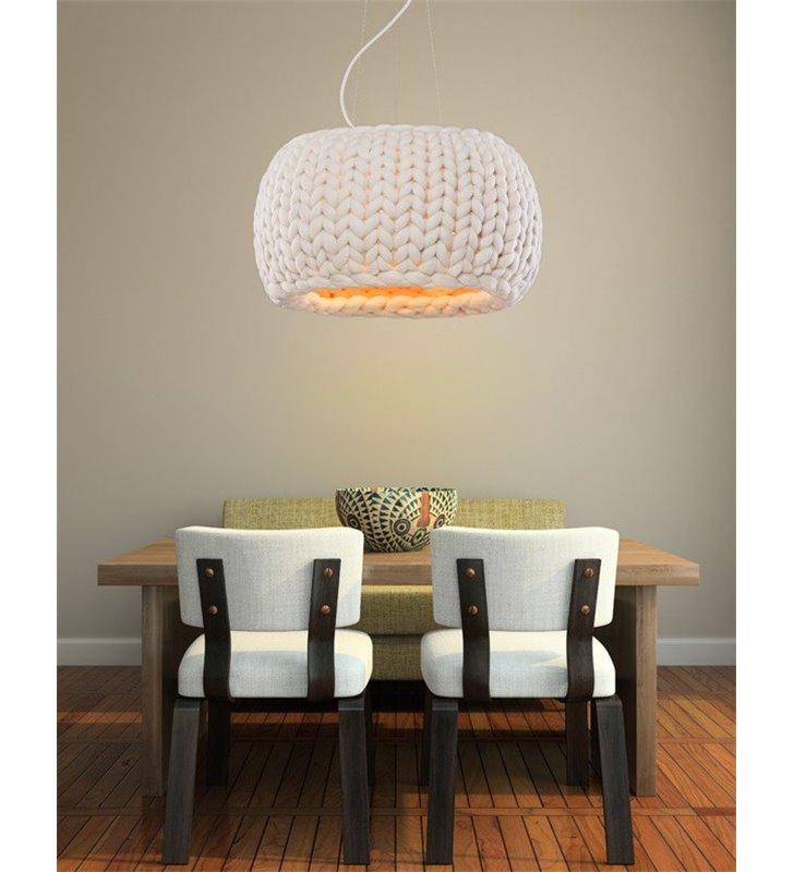 Designerska lampa wisząca Aspen Galaxy (K) wełniany abażur do jadalni sypialni kuchni salonu 5 kolorów do wyboru