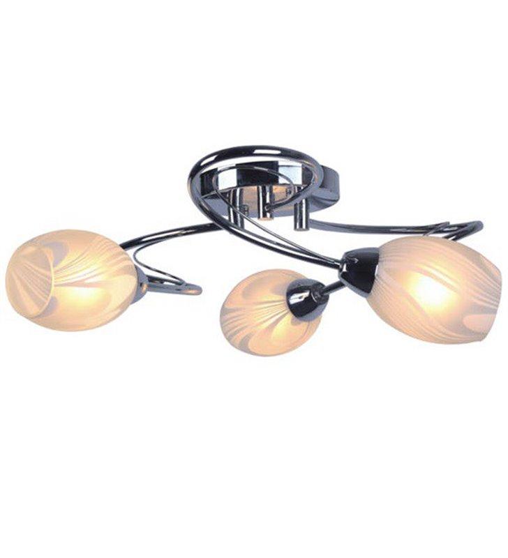 Jerry nowoczesna chromowana lampa sufitowa na 3 żarówki