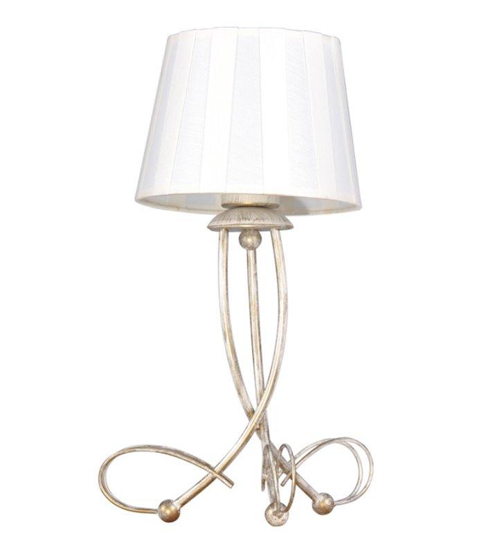 KLasyczna stołowa lampa beżowo złota Sofia