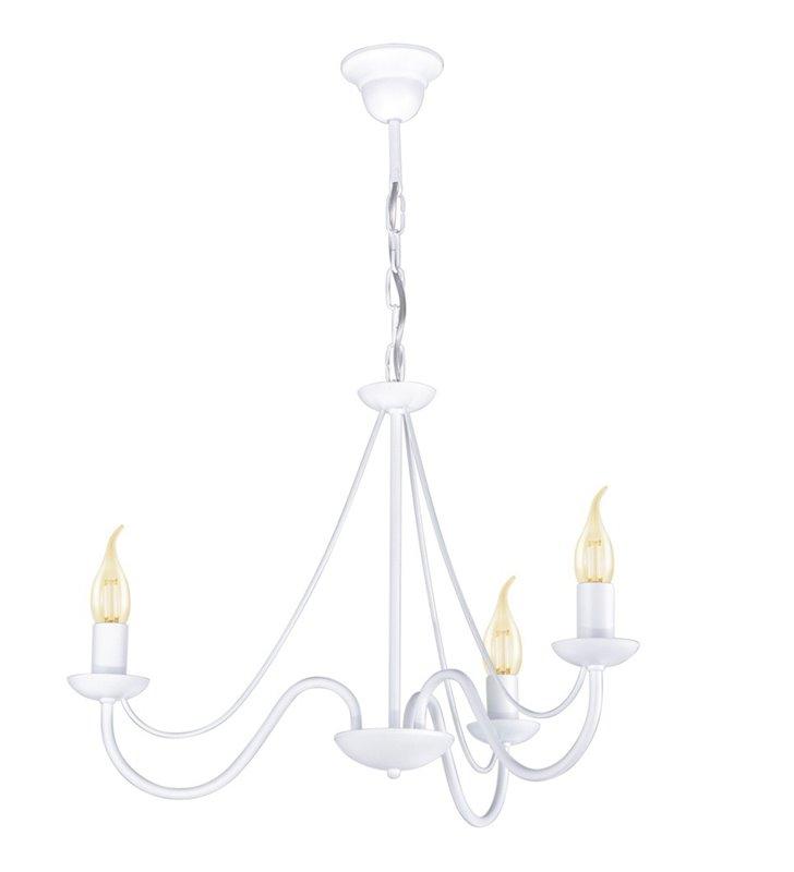 Potrójny biały żyrandol świecznikowy Bartez II do salonu sypialni jadalni pokoju dziennego do kuchni