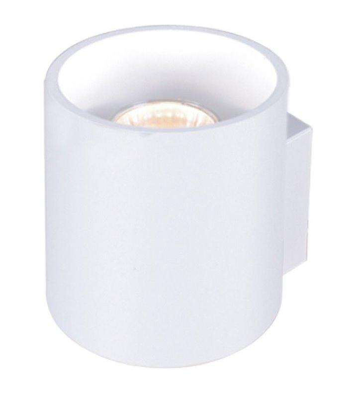 Biały nowoczesny kinkiet Alu White walec światło jednokierunkowe