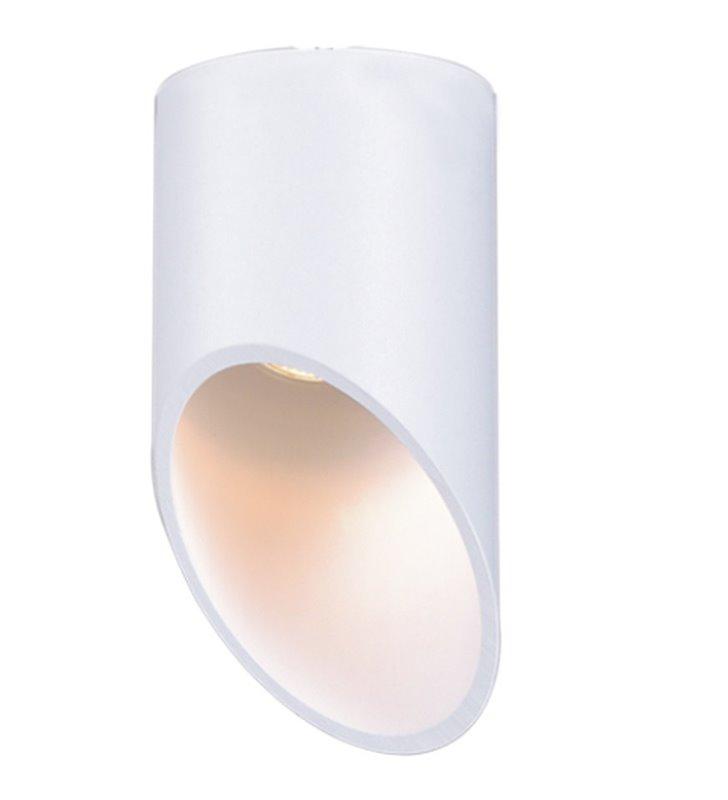 Lampa sufitowa ze ściętym końcem Alu II White GU10 biała