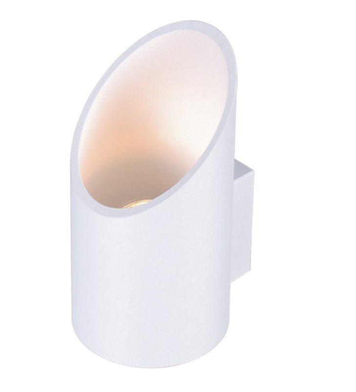 Biały kinkiet Alu II White nowoczesny jednokierunkowy strumień światła