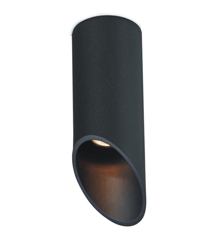 Skośna oprawa sufitowa Alu II Black GU10 wysokość 30cm kolor czarny