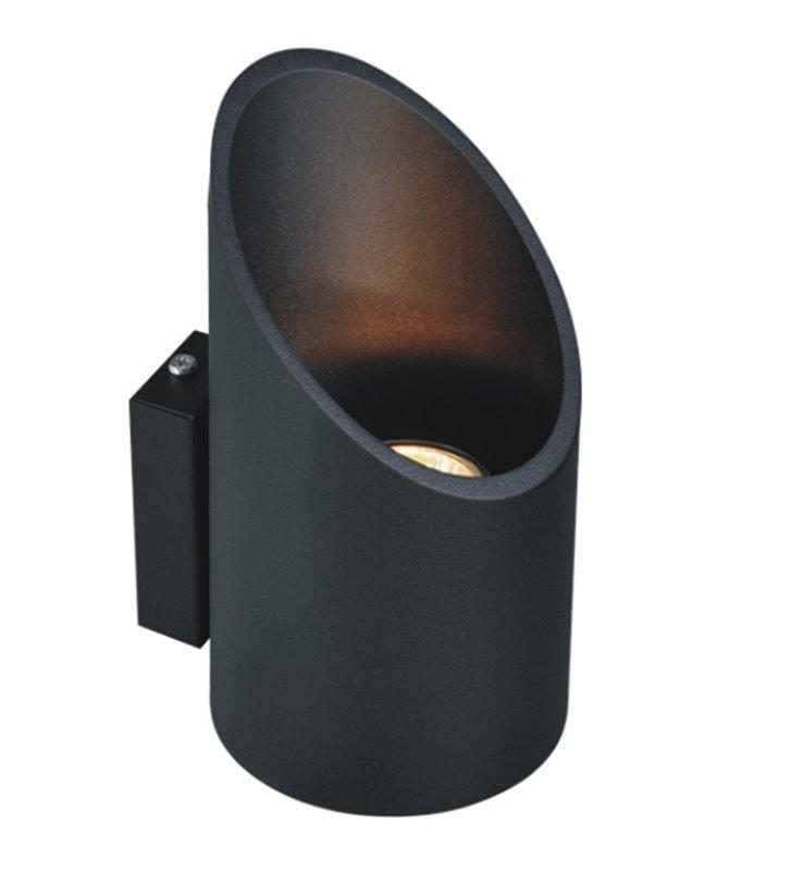 Kinkiet Alu II Black czarny nowoczesny jednokierunkowe światło