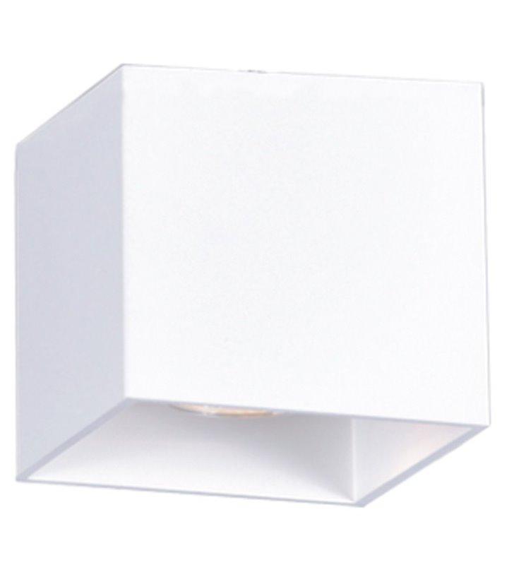 Kwadratowa biała lampa sufitowa downlight Kubik White