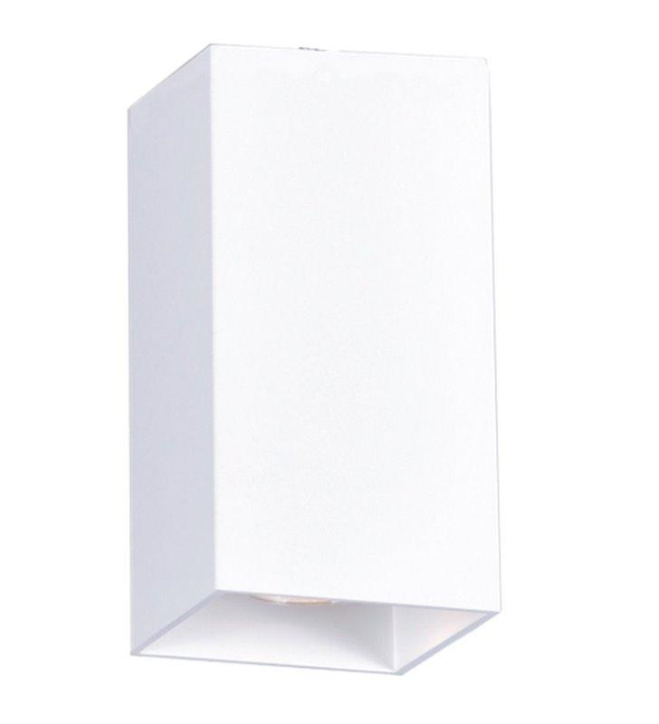 Kwadratowa podłużna biała lampa downlight Kubik White