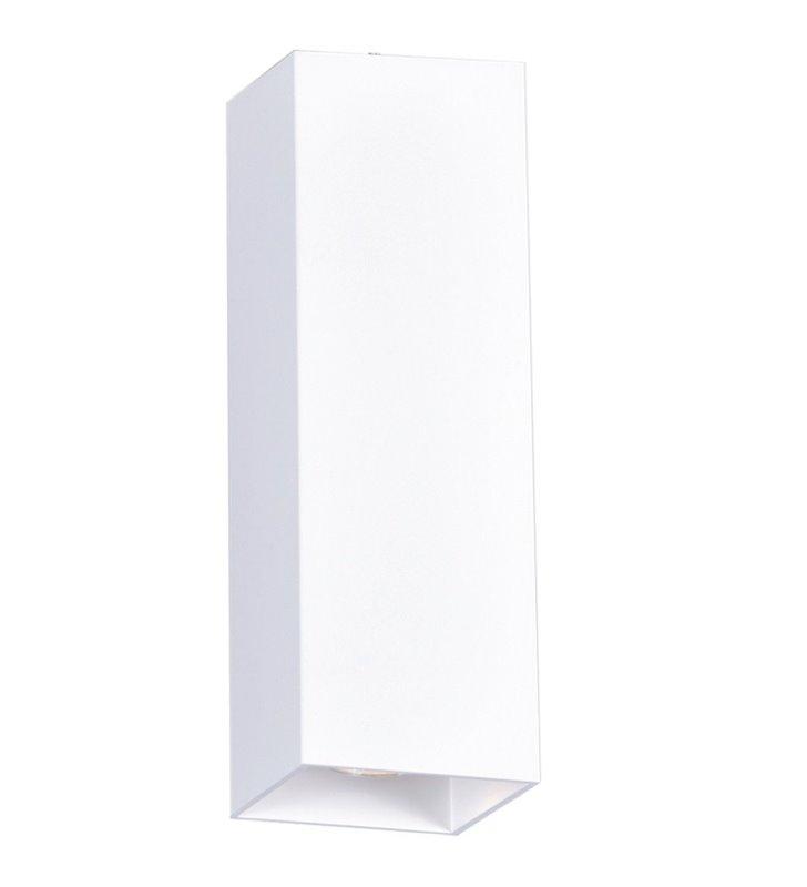 Podłużna kwadratowa biała oprawa downlight Kubik White 30cm długości