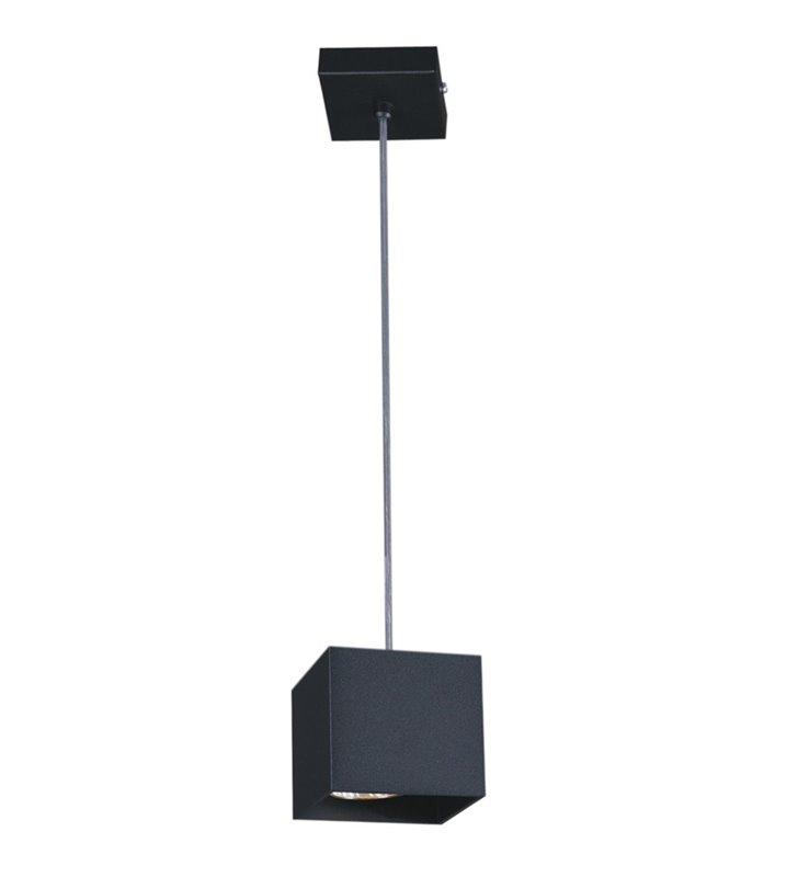 Lampa wisząca Kubik Black czarna nowoczesna kwadratowa styl techniczny