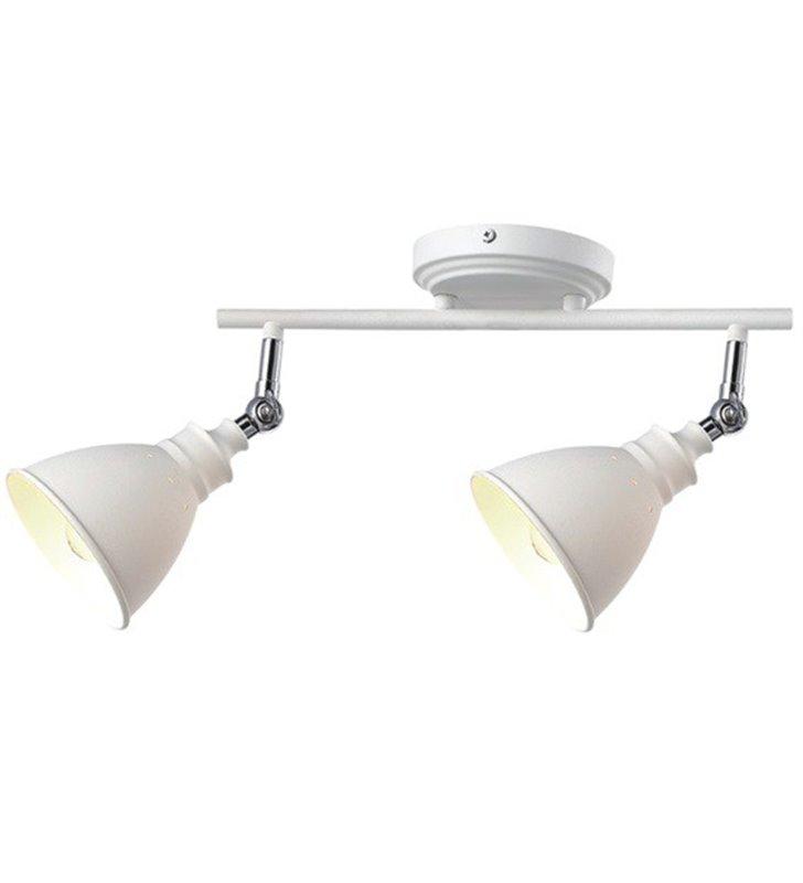 2 punktowa metalowa lampa sufitowa w stylu retro vintage Watso White