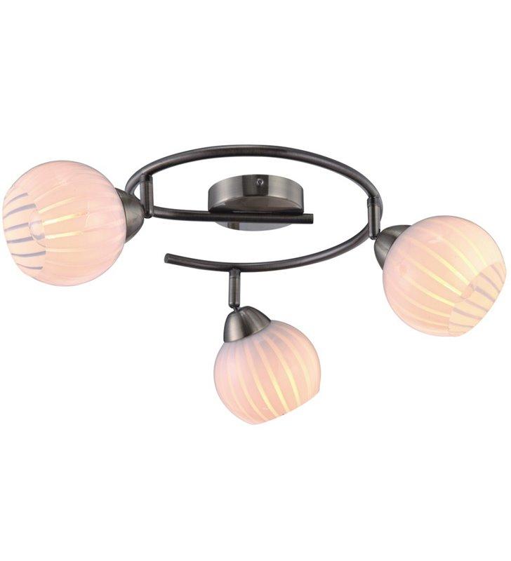 Potrójna patynowa lampa sufitowa spirala Azela do salonu pokoju dziennego sypialni