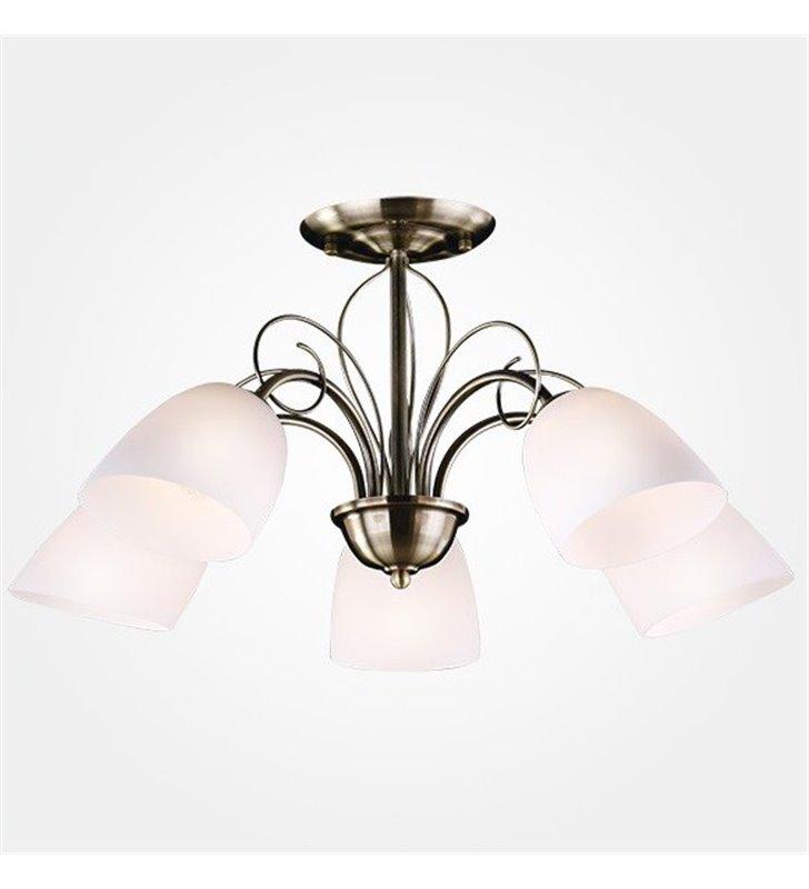 Lampa sufitowa Palermo 5 żarówek patyna styl tradycyjny klasyczny do jadalni salonu sypialni na przedpokój