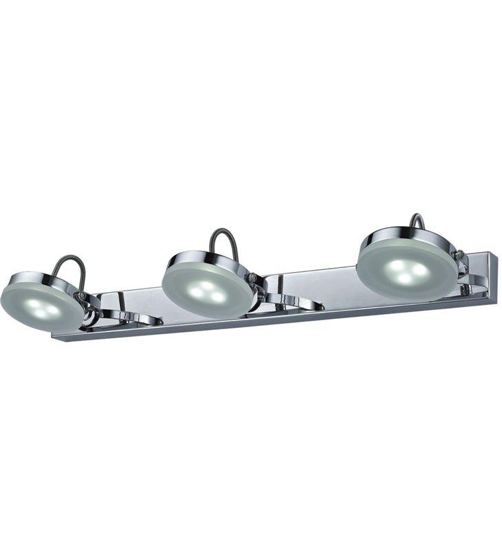Kinkiet nad lustro lub nad obraz Ledik II LED kolor chrom styl nowoczesny 3 ruchome klosze