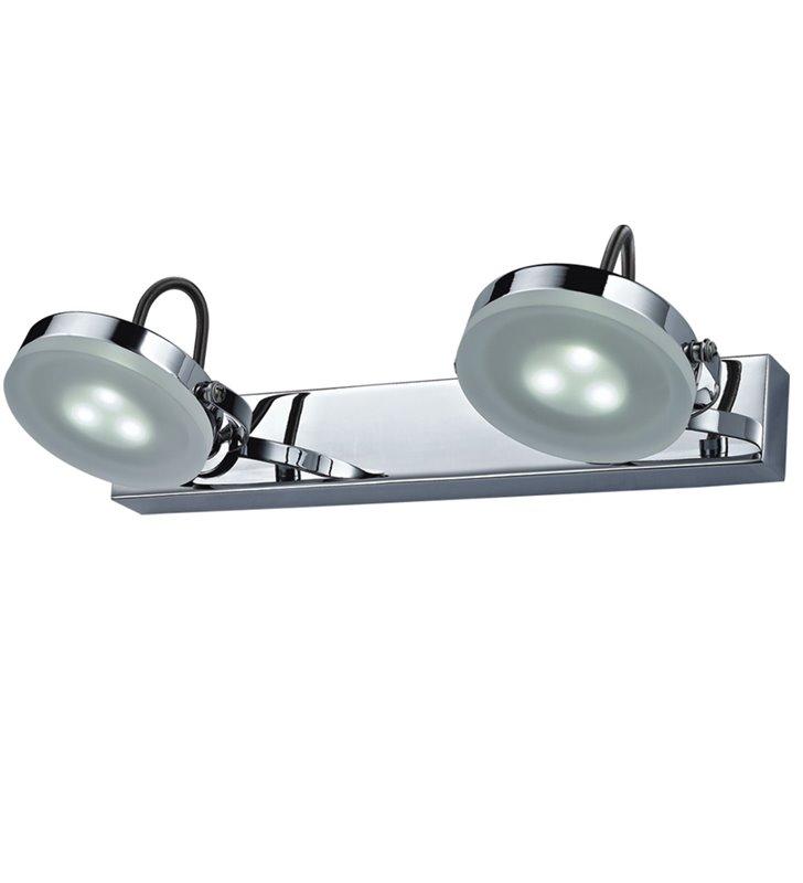 Lampa nad lustro lub nad obraz Ledik II LED chrom nowoczesna 2 ruchome klosze