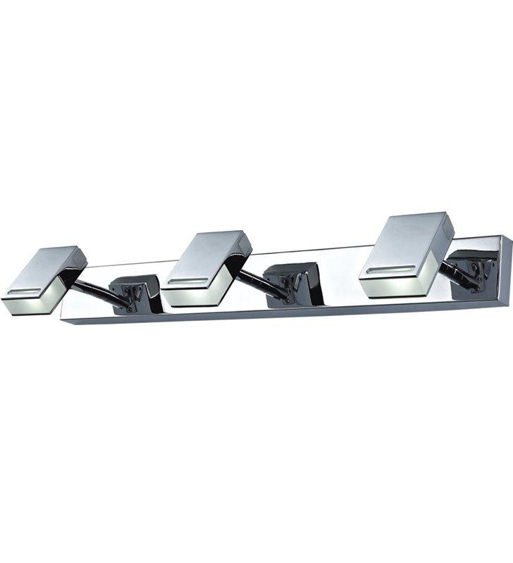 3 punktowa nowoczesna oprawa oświetleniowa nad lustro lub nad obraz Ledik LED chrom ruchome klosze