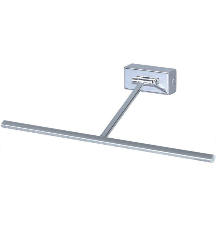 Lampa do oświetlenia obrazu lub lustra Kina I LED chrom nowoczesna z wąskim kloszem