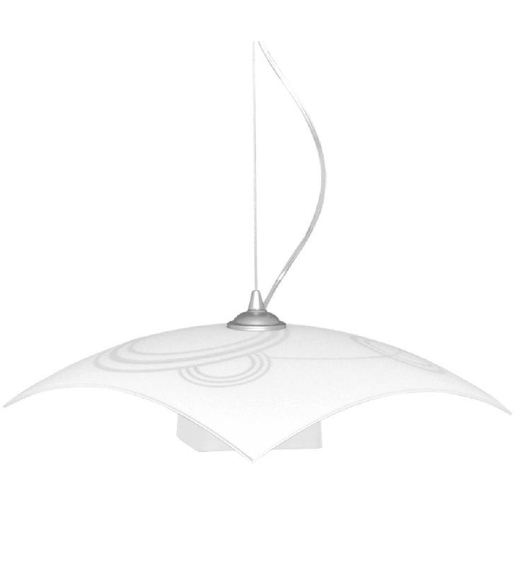 Kuchenna lampa wisząca Planeta klosz szklany kwadratowy z dekorem