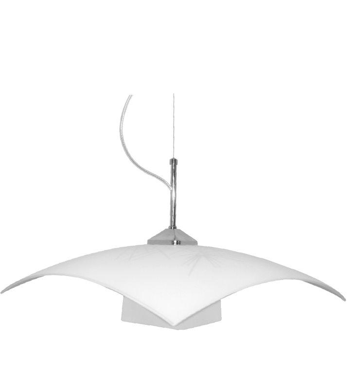 Kwadratowa szklana lampa kuchenna wisząca Szpilki klosz z dekoracyjnym wzorem