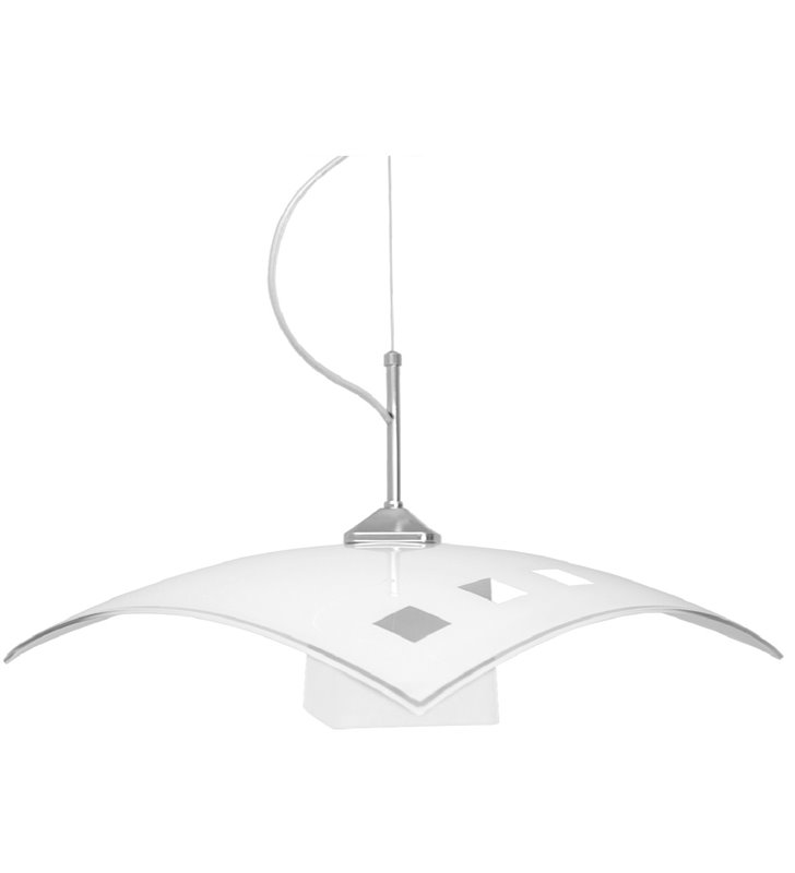 Lampa wisząca Trio White biała szklana do kuchni