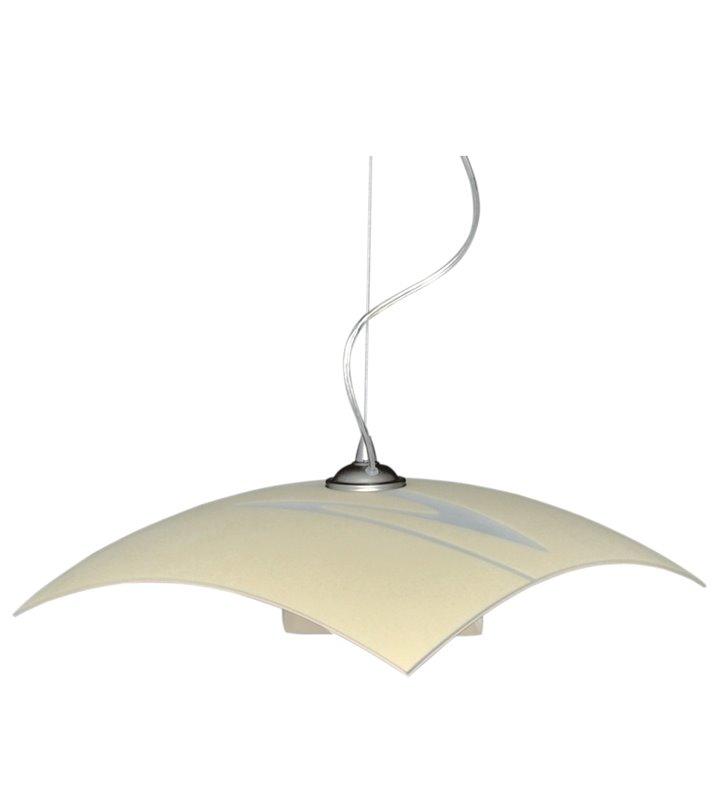 Lampa wisząca Adamo kuchenna kwadratowa szklana na kloszu ozdobny wzór