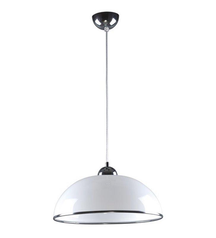 Akrylowa lampa wisząca Razoni biała do kuchni jadalni
