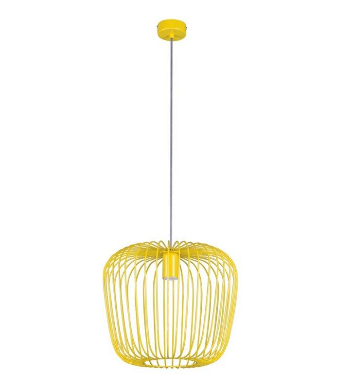 Lampa wisząca Eden żółta z drutu nowoczesna do pokoju dziecka do jadalni kuchni salonu pokoju dziennego - OD RĘKI