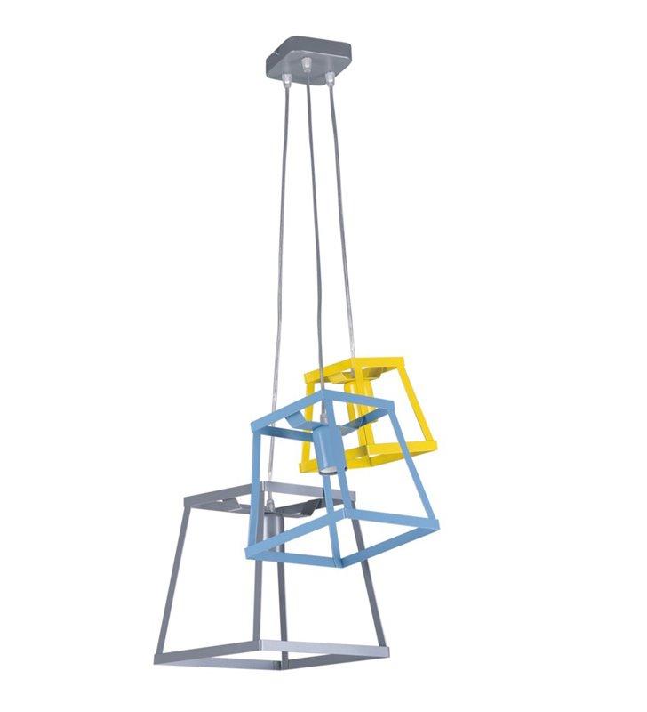 Lampa wisząca Tedy 3 zwisowa kolorowa nowoczesna do pokoju dziecka nastolatka