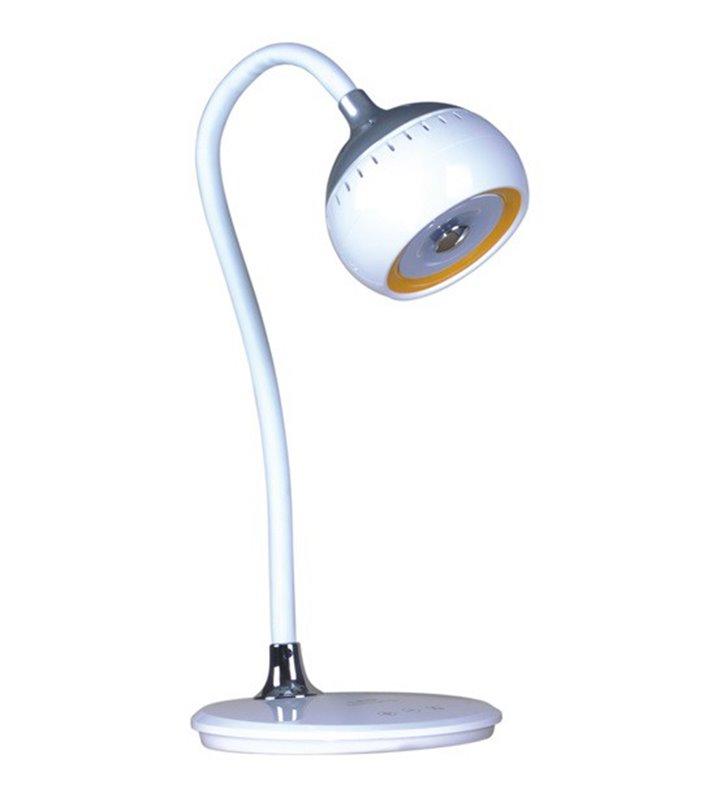 Nowoczesna biała lampa biurkowa Albin włącznik dotykowy ściemniacz 3300-6000K elastyczne ramię