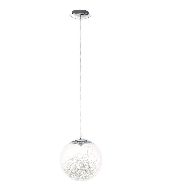 Lampa wisząca Valenca LED szklana kula wewnątrz świecący kabelek dekoracyjne światło