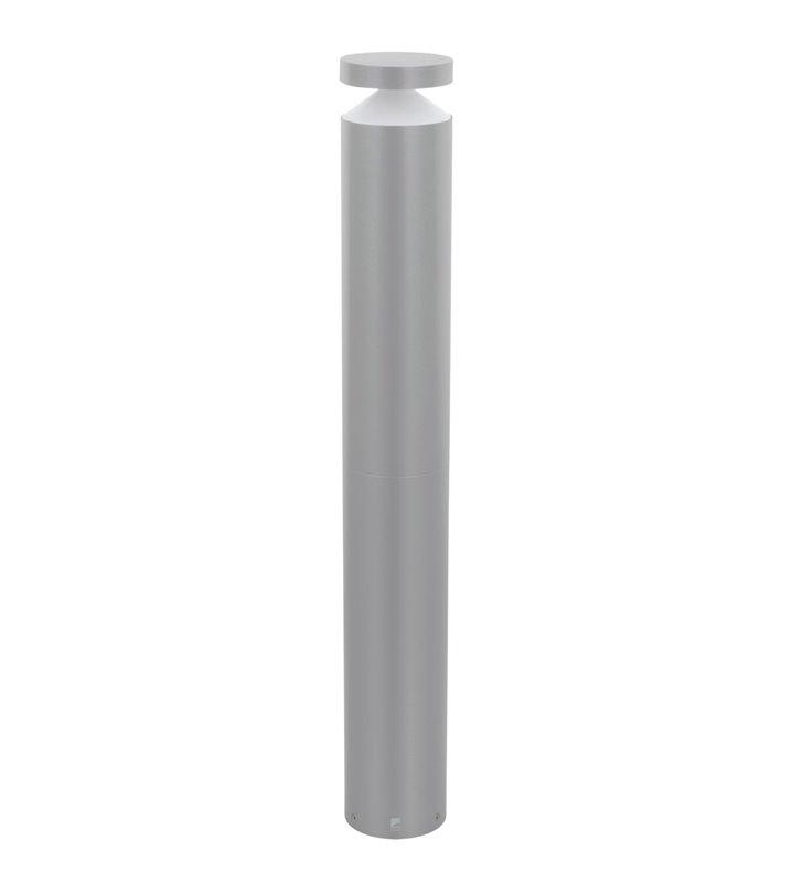 Stojąca lampa ogrodowa Melzo srebrna nowoczesna LED